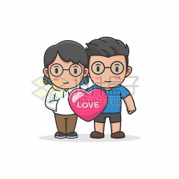 卡通男人女人爱情爱人情人节配图2635999png图片免抠素材
