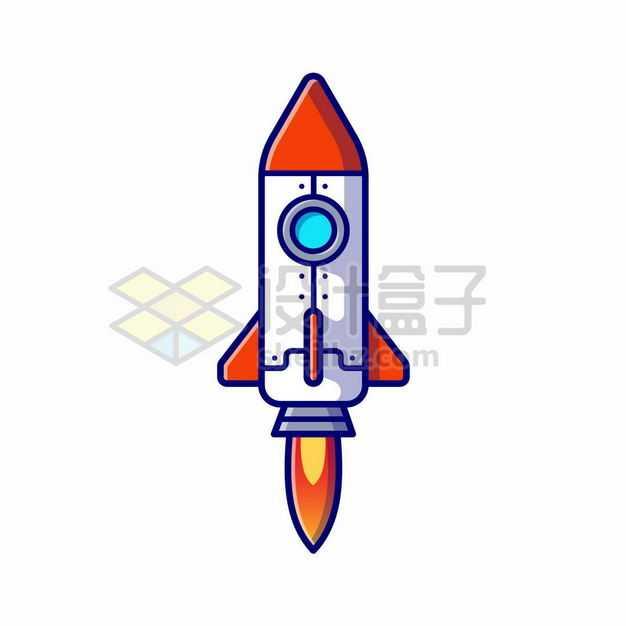 MBE风格起飞阶段的卡通小火箭9061206png图片免抠素材