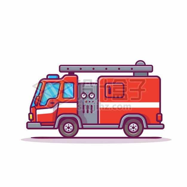 MBE风格卡通消防车1812426png图片免抠素材
