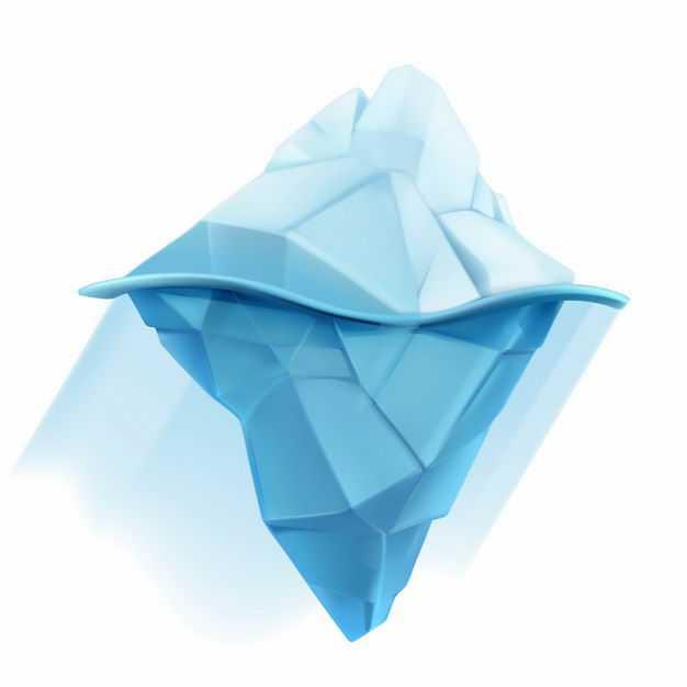 蓝色的南极北极冰山浮冰水面和水下部分5073921EPS图片免抠素材