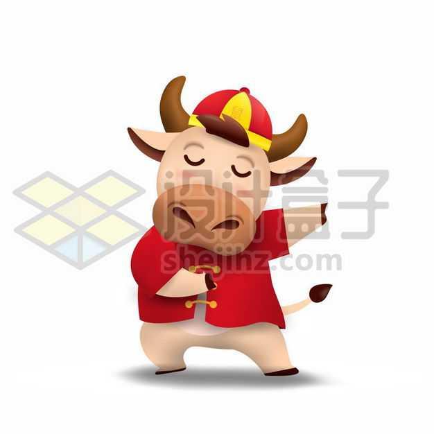 嘻哈风格的卡通小牛2021年牛年5618400png图片免抠素材