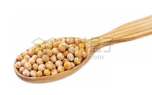 木头勺子里的干豌豆粒五谷杂粮粗粮美味美食5912389图片免抠素材