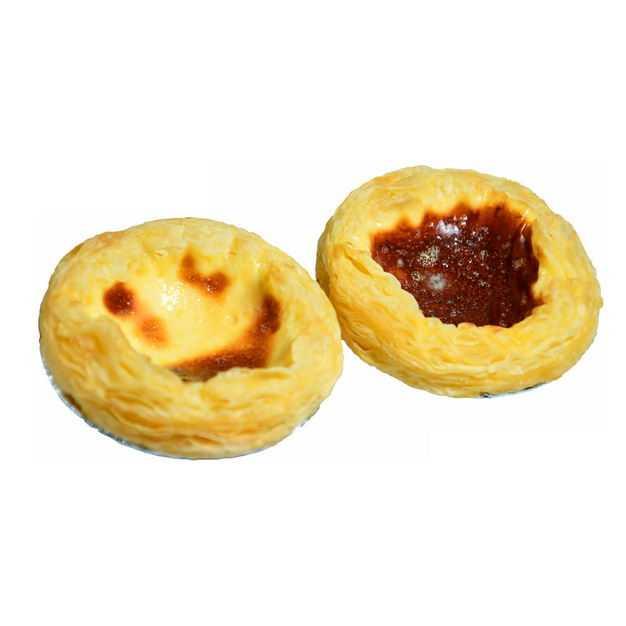 两个美味的蛋挞美食3938868png图片免抠素材
