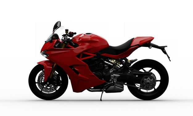 支撑起来的红色运动摩托车左侧方视角3527651PSD图片素材