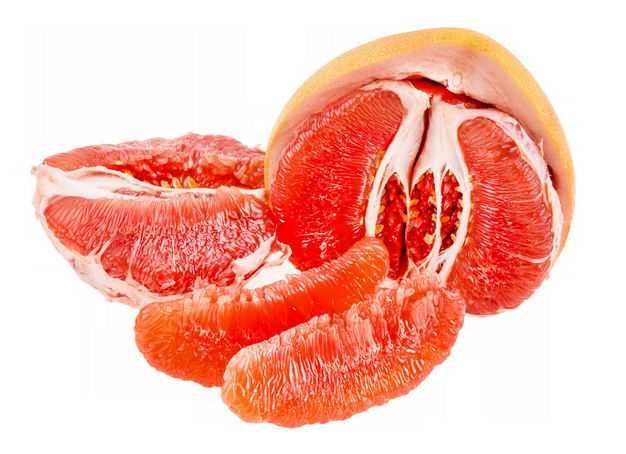 剥开皮的红心柚子美味水果9630547png图片免抠素材