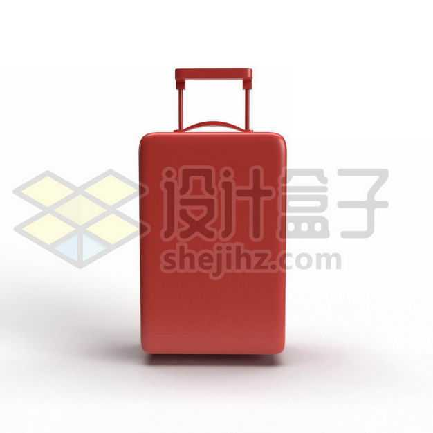 3D立体风格红色拉杆箱行李箱网红旅行箱正面图6068169PSD图片免抠素材