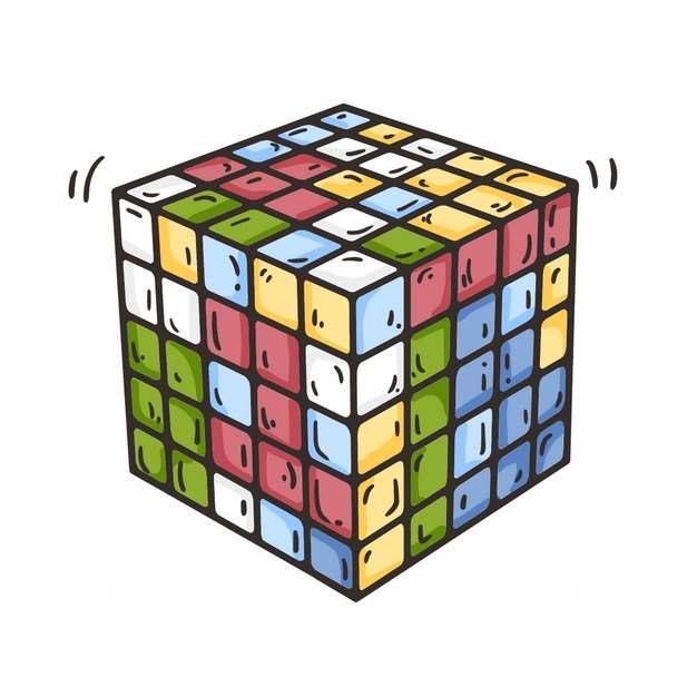 彩色卡通五阶魔方玩具7174827png图片免抠素材