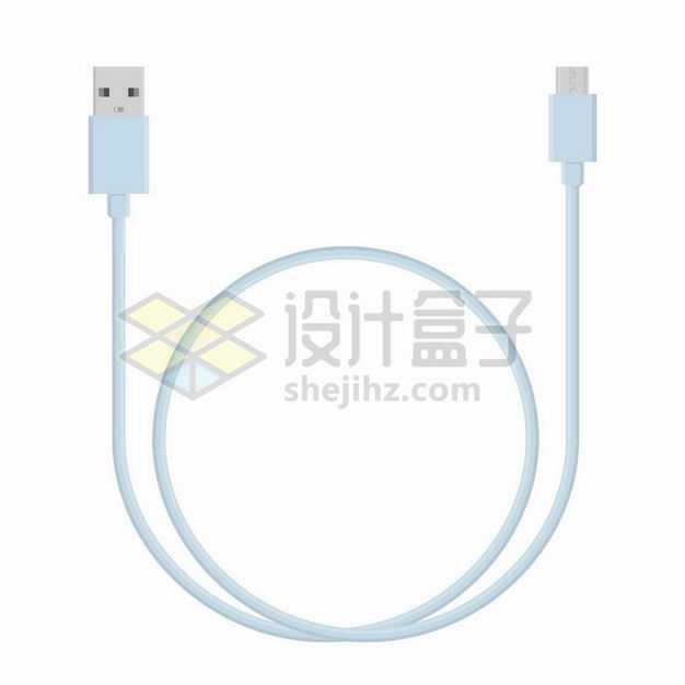 淡蓝色的USB数据线接口8404272png图片免抠素材