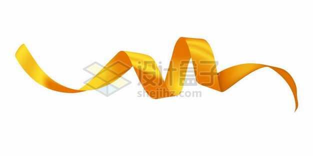 卷曲的金色彩带装饰3616859png图片免抠素材