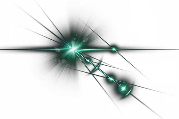 绿色闪光星光光芒光晕效果852921png免抠图片素材
