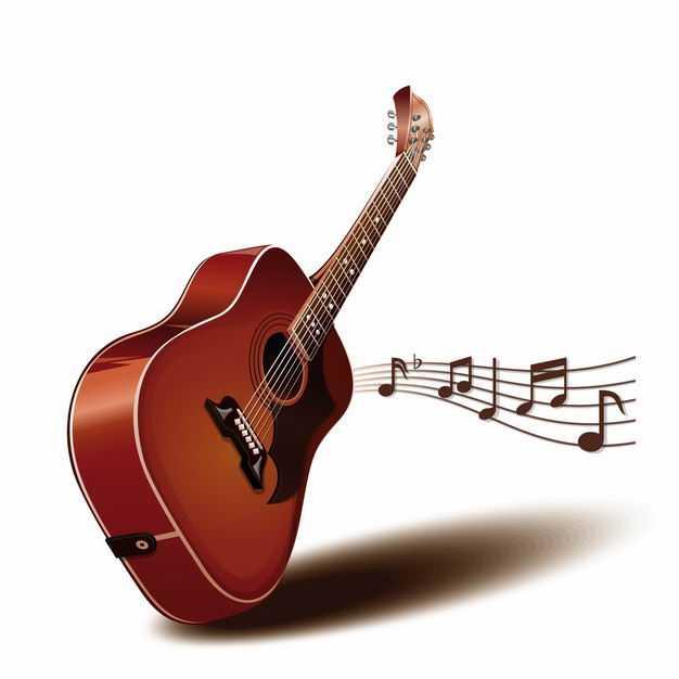3D立体吉他弹出美妙的音乐弦乐器音符乐谱5119611EPS图片免抠素材