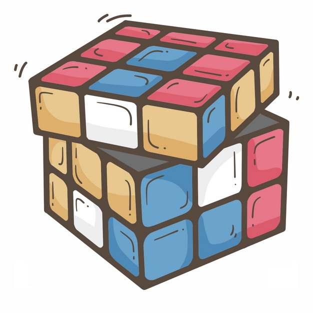 正在玩的卡通三级魔方玩具8166767png图片免抠素材