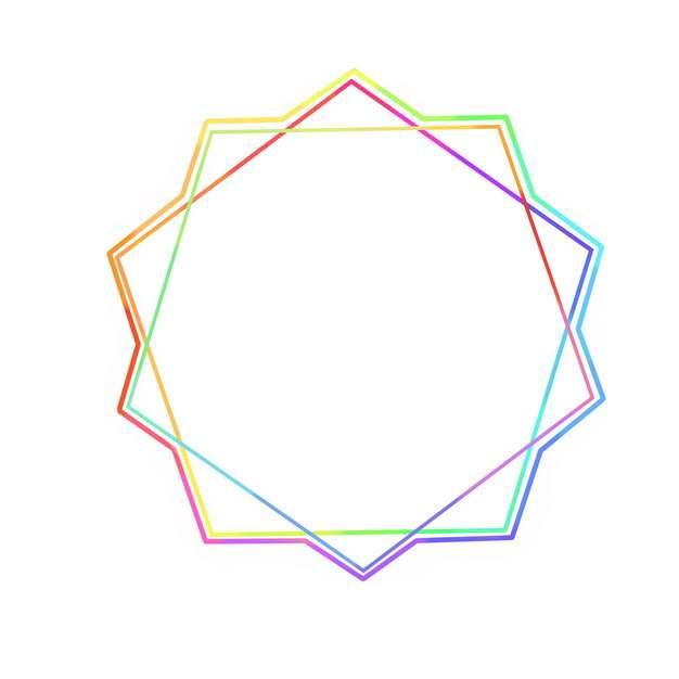 创意两个五边形组成的彩色线条图案233288PSD图片免抠素材
