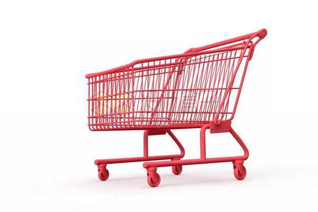 3D立体红色超市购物车模型4477429图片免抠素材