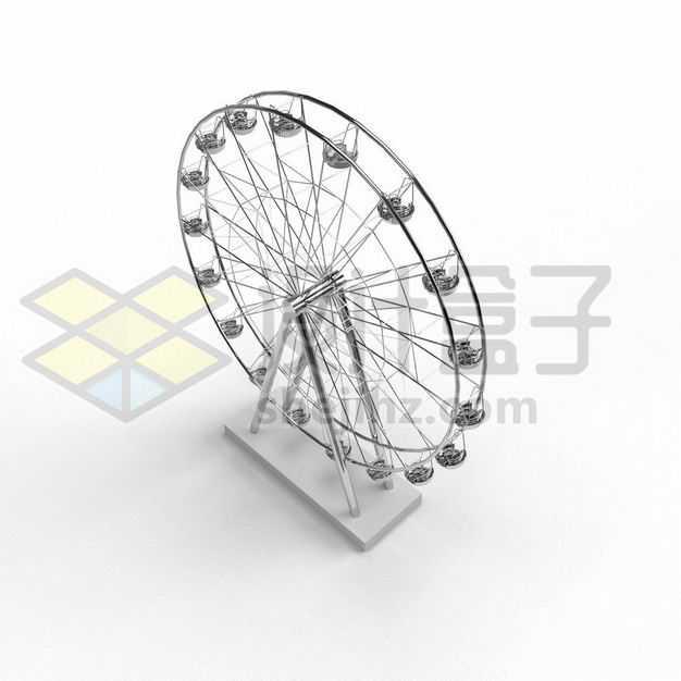 金属光泽的摩天轮模型2572800PSD图片免抠素材
