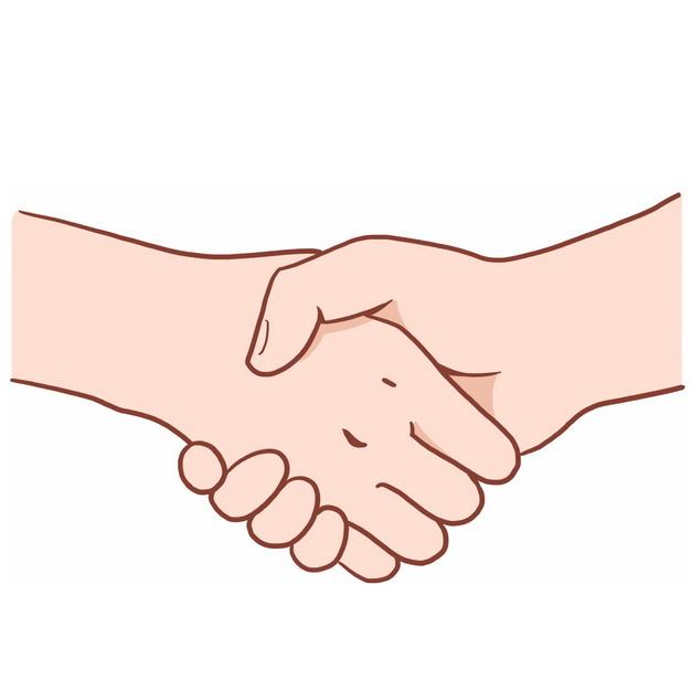 卡通双手正在握手合作3944302png图片免抠素材 商务职场-第1张