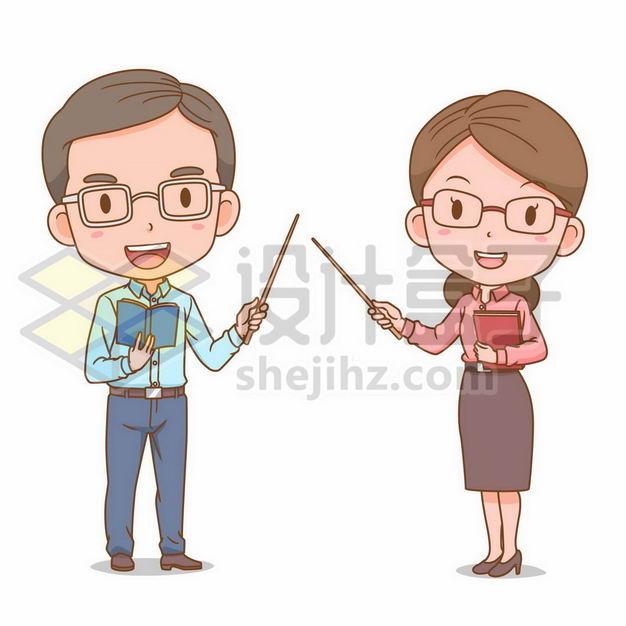 卡通男老师女老师卡通教师形象3657943png图片免抠素材 人物素材-第1张