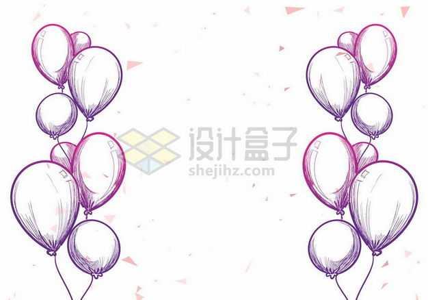 紫色气球手绘插画3201504png图片免抠素材
