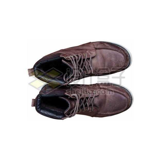 一双复古风格的牛皮鞋真皮男鞋休闲鞋5443145图片免抠素材