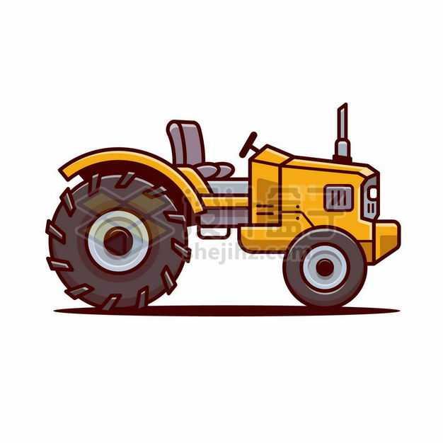 MBE风格黄色卡通农用拖拉机3269364png图片免抠素材