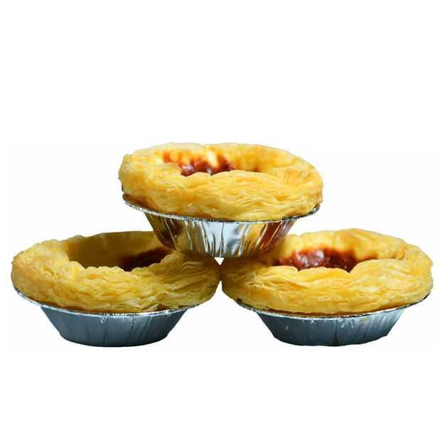 三个叠放的美味蛋挞美食2013049png图片免抠素材