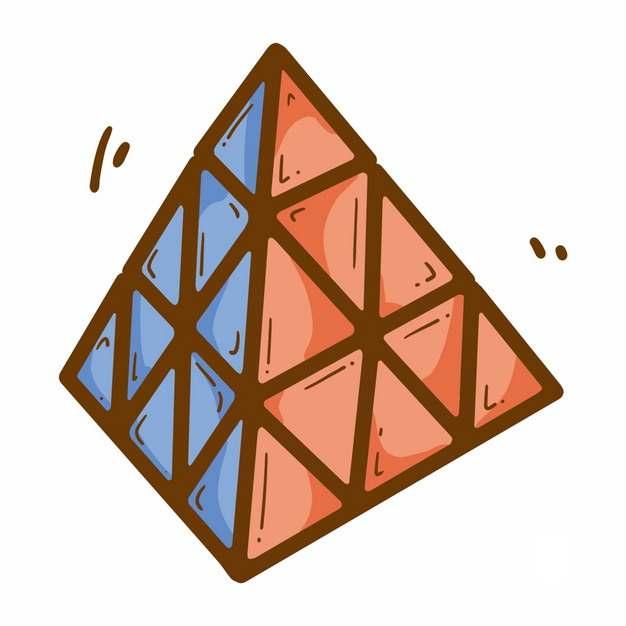 彩色卡通三角魔方金字塔魔方玩具2298114png图片免抠素材