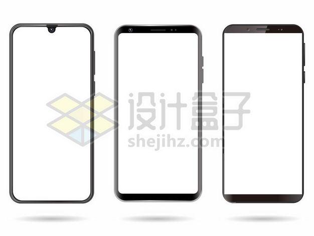 三款黑色手机边框3033743png图片免抠素材 IT科技-第1张