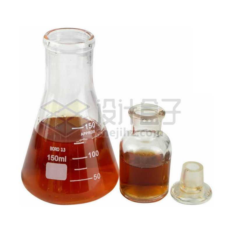 锥形瓶和玻璃广口瓶试剂瓶7547226png图片免抠素材