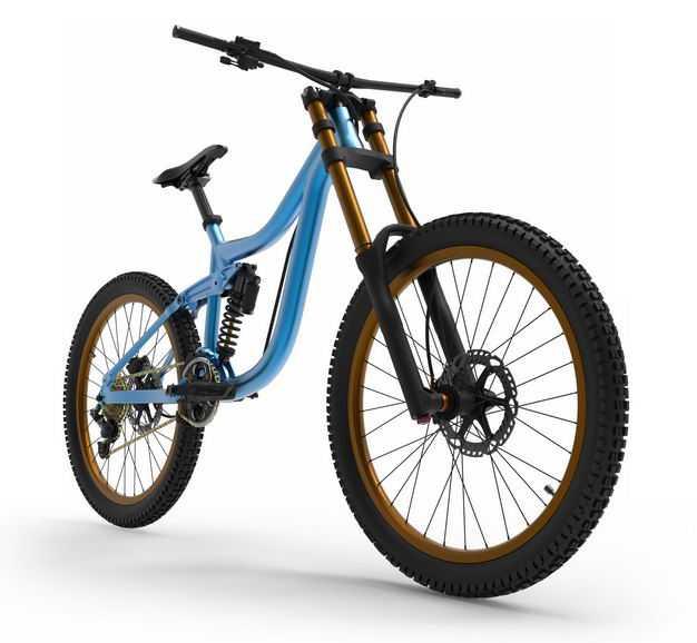 3D立体运动自行车山地自行车公路自行车前右视角9009883png图片免抠素材