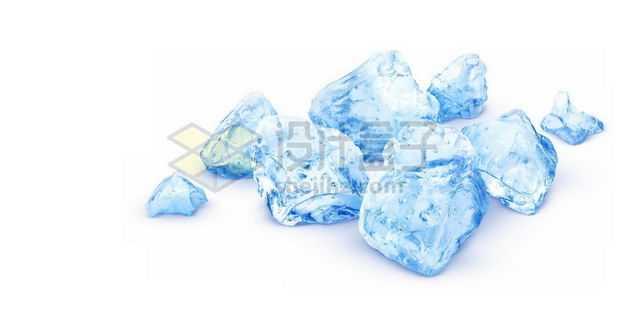 蓝色的冰块碎冰6246505图片免抠素材