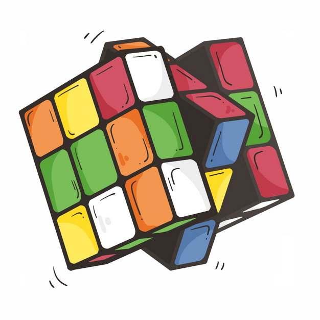 正在玩的卡通三级魔方玩具4744735png图片免抠素材