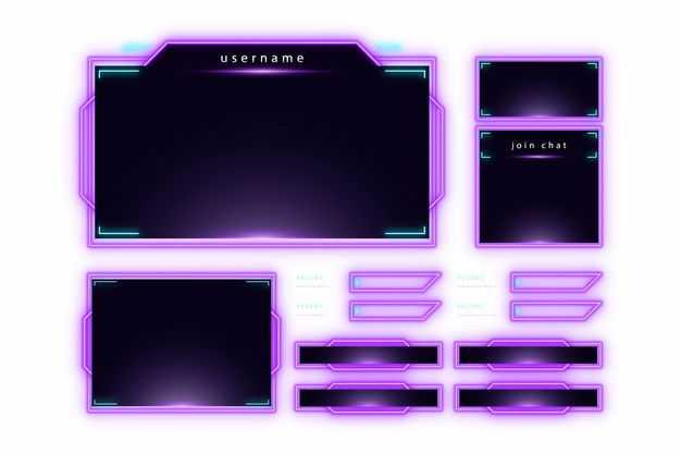 各种紫色发光科技科幻风格信息框文本框9668990png图片免抠素材