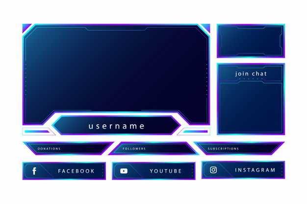 各种紫色高科技科幻风格信息框文本框9172588png图片免抠素材