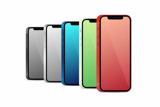 排列好的苹果iphone智能手机6657453png图片免抠素材
