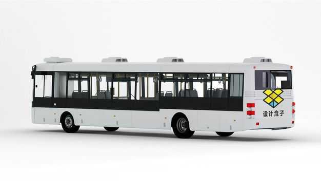 公交车左后方视角车上样机图案7754683PSD图片素材