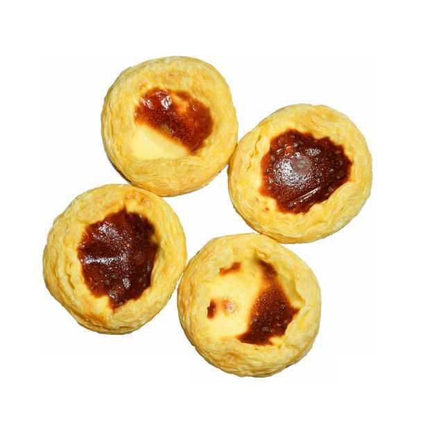四个蛋挞美味美食俯视视角4509925png图片免抠素材