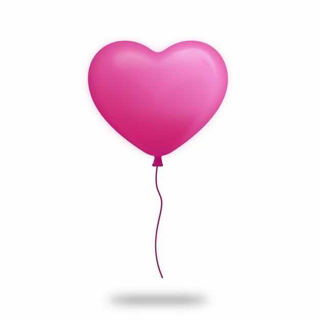 玫红色的心形气球8819648EPS图片免抠素材