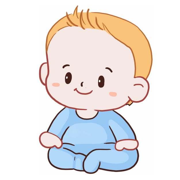 坐着的卡通宝宝插画7185892png图片免抠素材