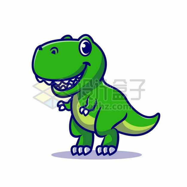 超可爱的卡通绿色恐龙霸王龙5337773png图片免抠素材
