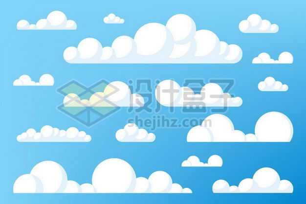 各种可爱的卡通云朵白云飘飘9188610png图片免抠素材