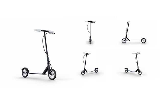 3D立体儿童滑板车模型的五个不同角度3739577PSD图片素材