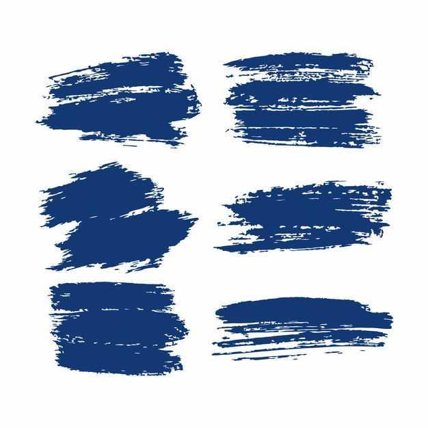 各种蓝色的涂鸦线条装饰6186758png图片免抠素材