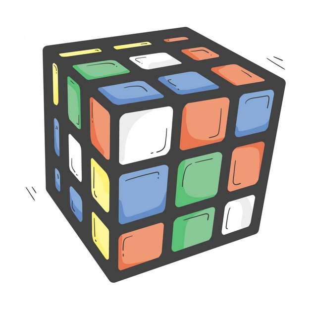 粗线条风格卡通三级魔方玩具2977702png图片免抠素材