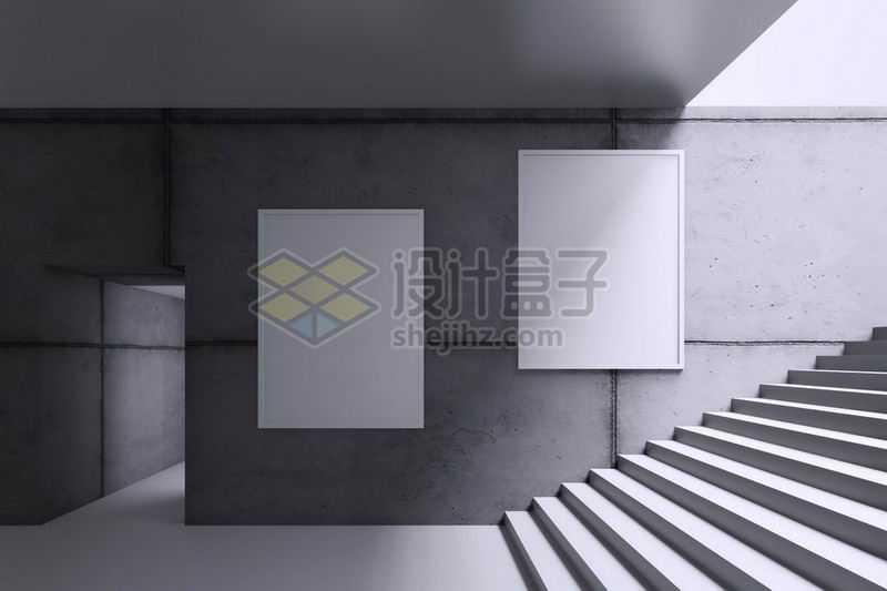 地下通道墙壁上的挂画广告样机5200410图片素材