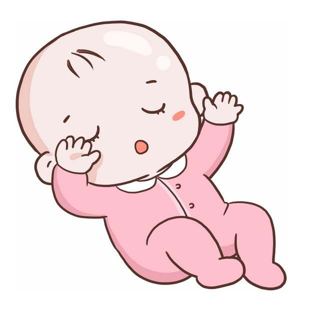 躺在地上求抱抱的卡通宝宝婴儿3168194png图片免抠素材
