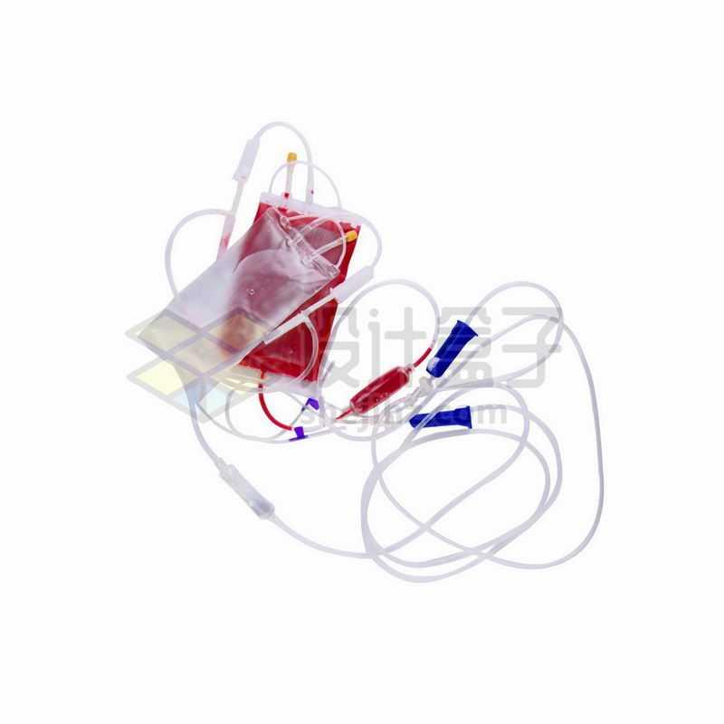一次性输液袋血袋输血袋和针头医疗用品4160063png图片免抠素材