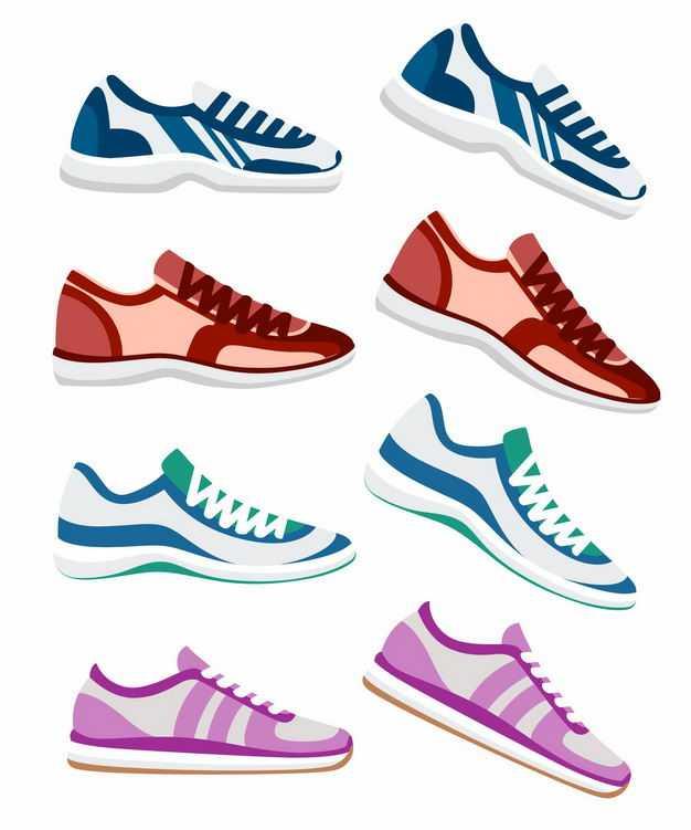 四款运动鞋球鞋侧视图7110061EPS图片免抠素材