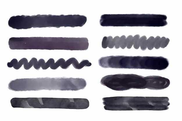 各种黑色墨水涂鸦线条装饰8824436png图片免抠素材