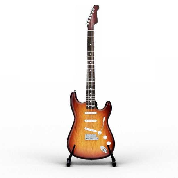 放在架子上的电吉他音乐乐器正面图5317944PSD图片素材