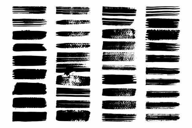 三十六款黑色涂鸦线条装饰4226601png图片免抠素材